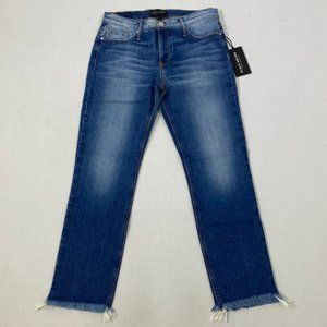 Black Orchid Woman's Chopped Blue Jeans